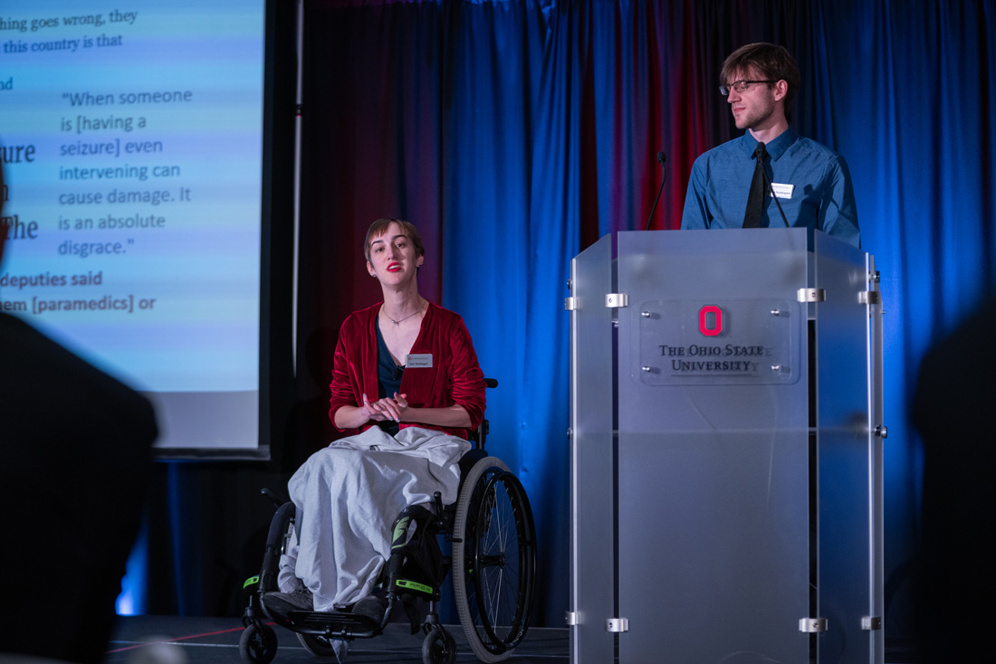 Jen Schlegel of Beenabled, LLC, presents 119 Power to the Patient at the Alliance for the American Dream Pitch to the Community on January 14, 2020 at the Nationwide and Ohio Farm Bureau 4-H Center.